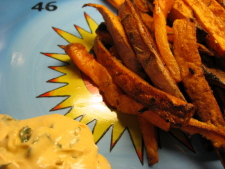Savory Sweet Potato Fries W/Chipotle & Cilantro Mayo