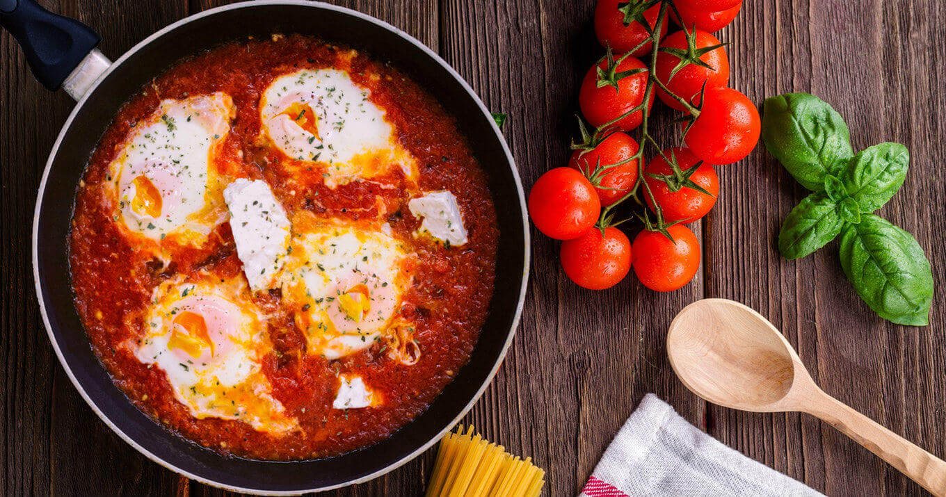 eggs poached marinara recipe