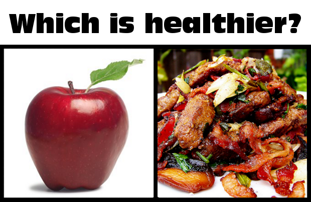 which is healthier an apple or liver