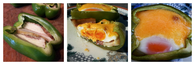 Bell Pepper Basket Bacon Egg Cheese