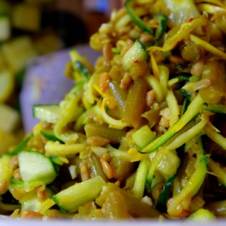 Golden Mid-Summer Vegetable Noodle Salad