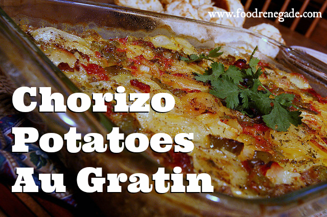 cheesy-chorizo-potatos-au-gratin