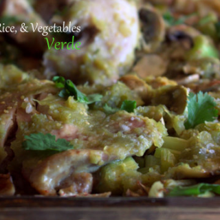 One-Pan Chicken Verde Recipe With Rice & Veggies