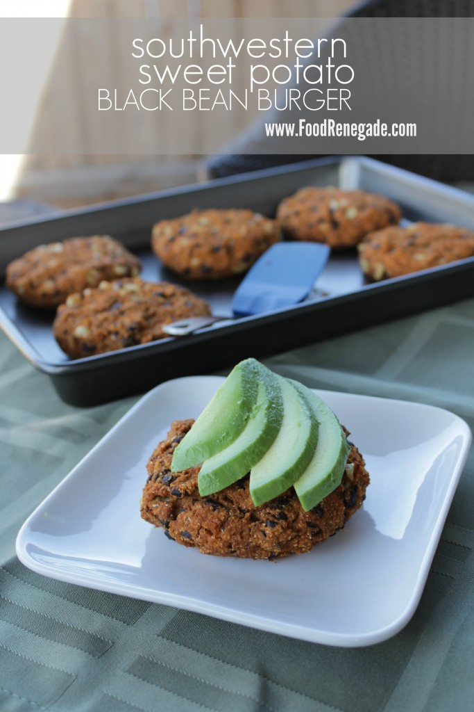 Gluten-Free Southwest Sweet Potato Black Bean Veggie Burger Pin