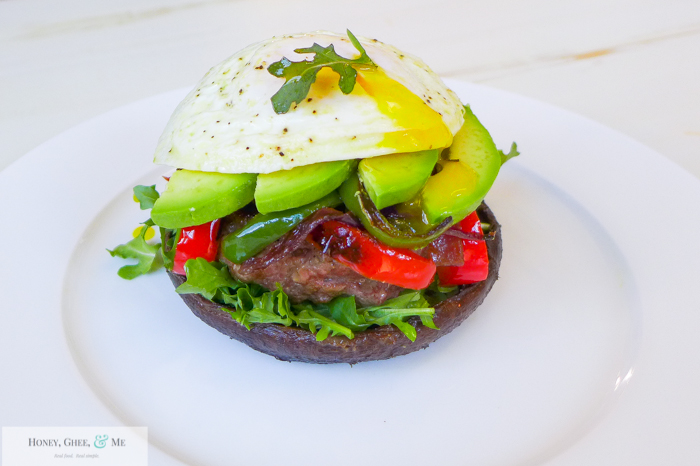 mushroom and pepper burger paleo-32